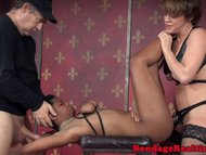 bigtitted blond haired sub pounded in rough threeway