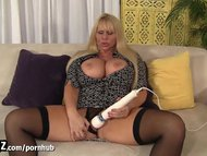 handjob - busty step-mother caught masturbate!