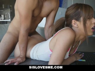 sislovesme - slammed my step-sister while she did hw