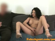 fakeagent horny romanian babe sucks and fucks in casting