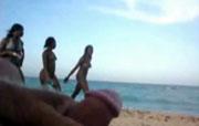 Aftrekken op het strand
