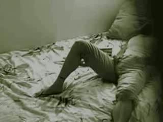 Met de verborgen camera mastuberend gefilmd