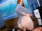 Smoking Teacher Gets Creampied by Student pov redhead milf