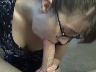 Blowjob and ride leads to Huge cumshot