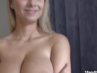 Kath3rin@ busty european girl strips
