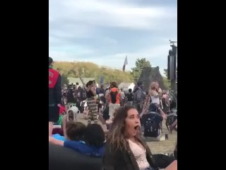 Music festival facesitting slut... anyone know her?