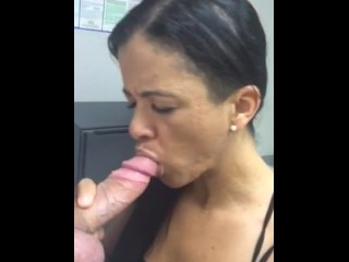 Surprise Blowjob at Work