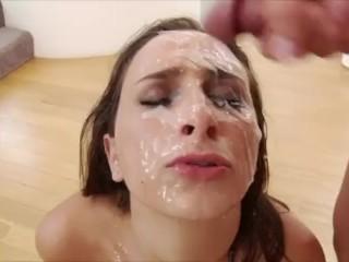 Bukkake compilation - Face covered