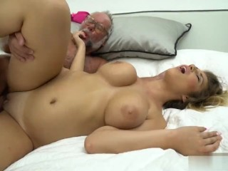Aida swinger gets fucked by an old man