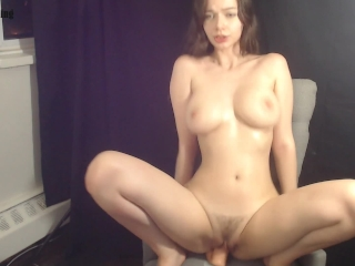 Babe with Big Tits Rides Dildo and Dirty Talks on Cam - Jessica Starling