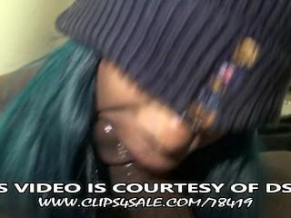 Super Sloppy Hardcore Ebony Deepthroat- DSLAF