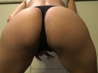 Bubble Butt Teen Peeing In Black Panties - 4k Big Ass Tease Panty Pissing