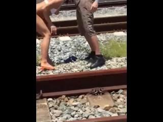 Adriana Chechik Train Track Fucking