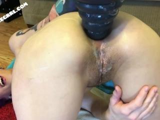 Close-up fisting and gaping - FULL VID AT BADLITTLEGRRL.COM