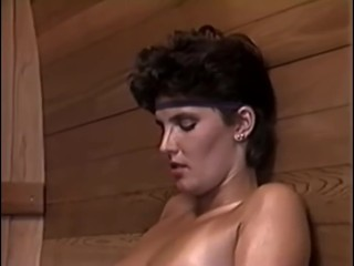 Vintage lesbians eat pussy in the sauna