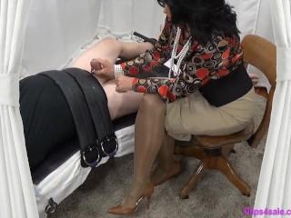 Mistress Mommy Gives Bound Sub Slow Handjob