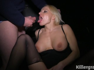 Killergram Milf Tara Spades dogging sucking cocks in public