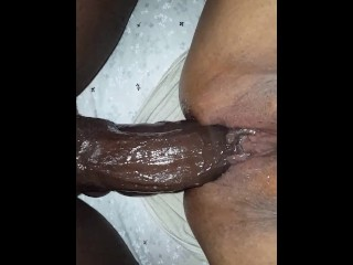 Double penetration with Huge anal dildo and long black cock BBC4THATASS