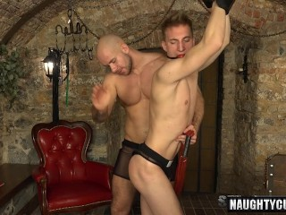 hot fag spanking and cumshot
