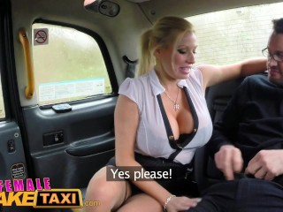fiance fake taxi reporter receives desirous sex scoop and deepthroat oral sexe