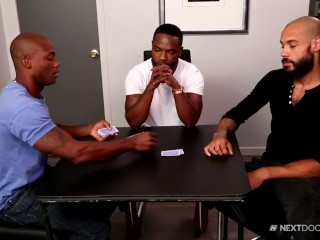 nextdoorebony hung blondhaired haired hunks strip poker 3way!