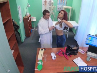 fake hospital physician squeezes a fake rod and rod into patients bathe soaking bathe soaking wet jerk off