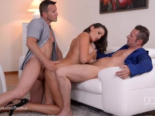 threesome therapy busty goddess sensual jane nailed by medic man and man