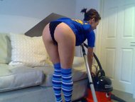 Kelly Hart Vacuums to climaxing