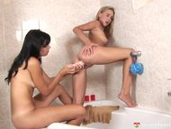 some lesbians having some fun in some bathroom, part two