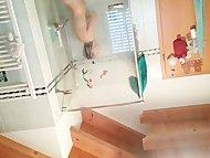 vootze beim duschen