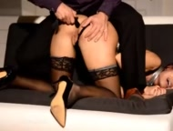 submissive training - dominant teaches prostitute how to behave
