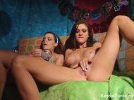 70s lesbians kendall karson natasha nice masturbate together