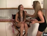 hot milf enjoys eating a teen babe