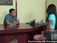 humiliatedschoolgirls - she saves detention by draining his hard cock